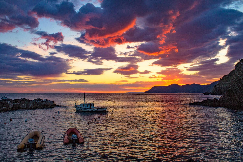 Cinque Terre Riomaggiore sunset