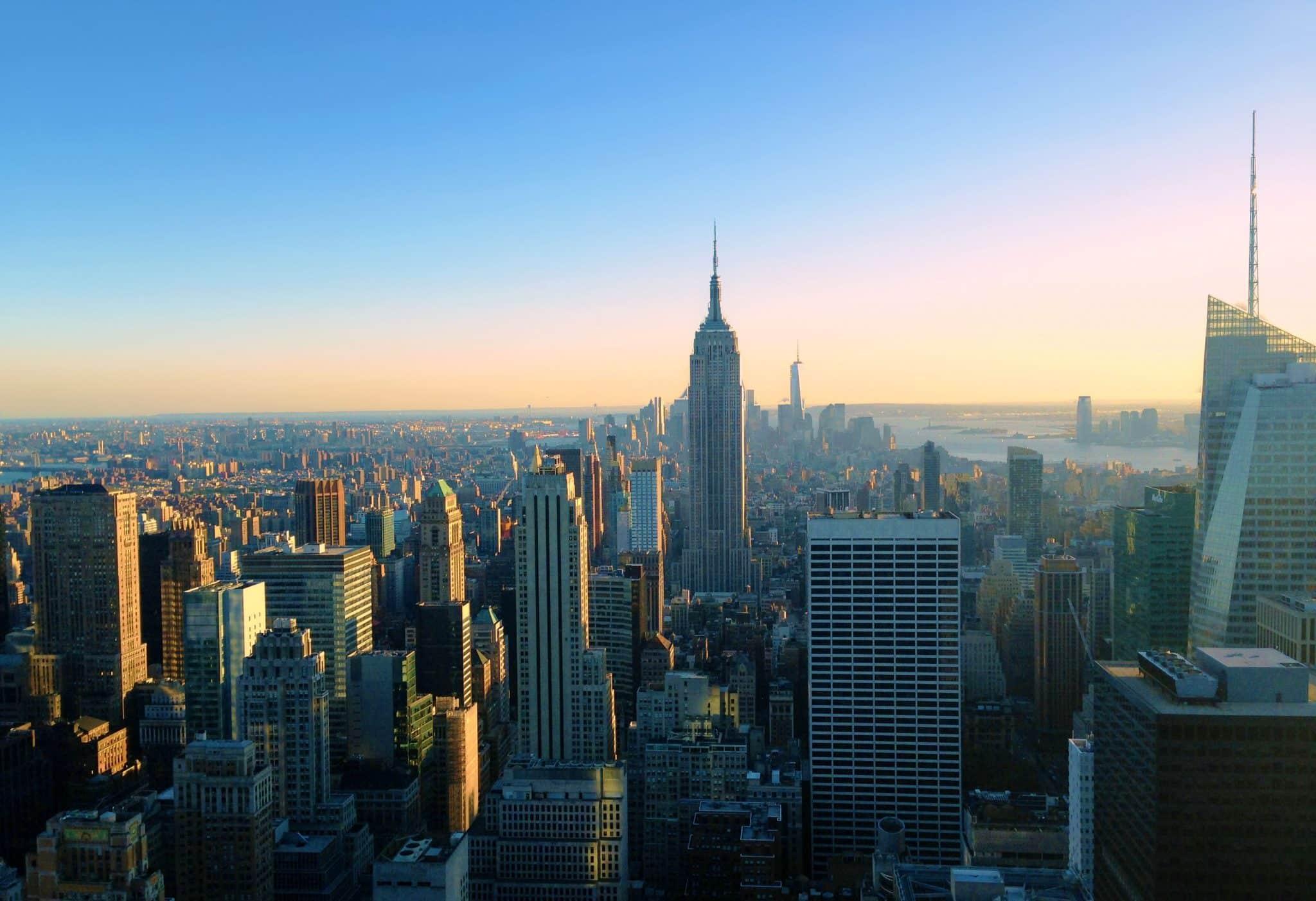 New York Cityscape: Empire State Vs. Top Of The Rock