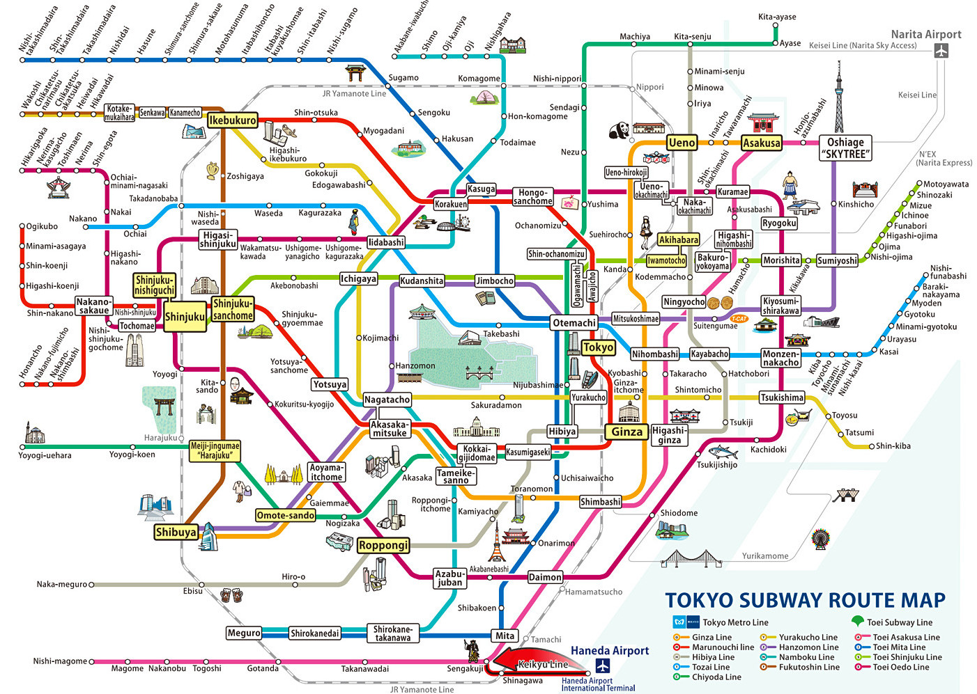 Subway Tokyo Map.Tokyo Subway Your Essential Guide To Tokyo S Public Transport Green And Turquoise