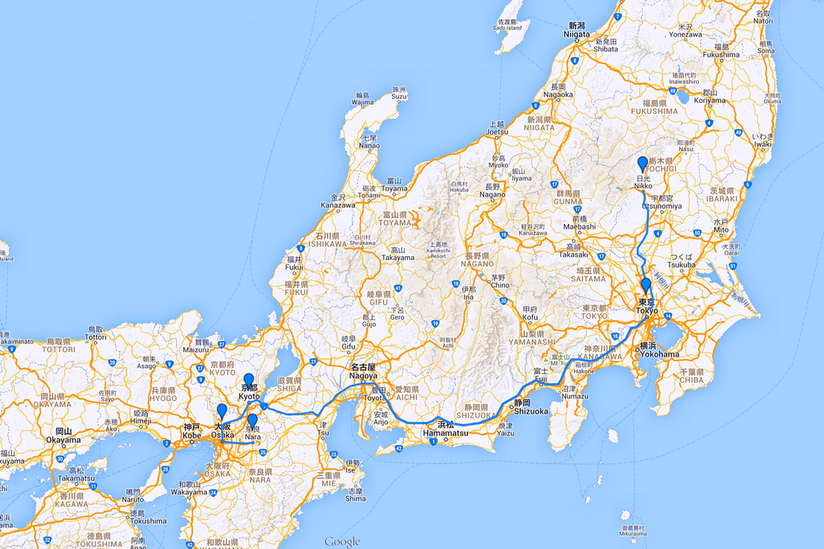 How To Plan Your First Trip To Japan Map Itinerary