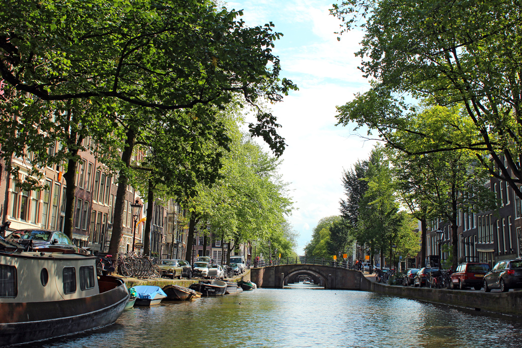 Canals of Amsterdam the Seven Bridges point