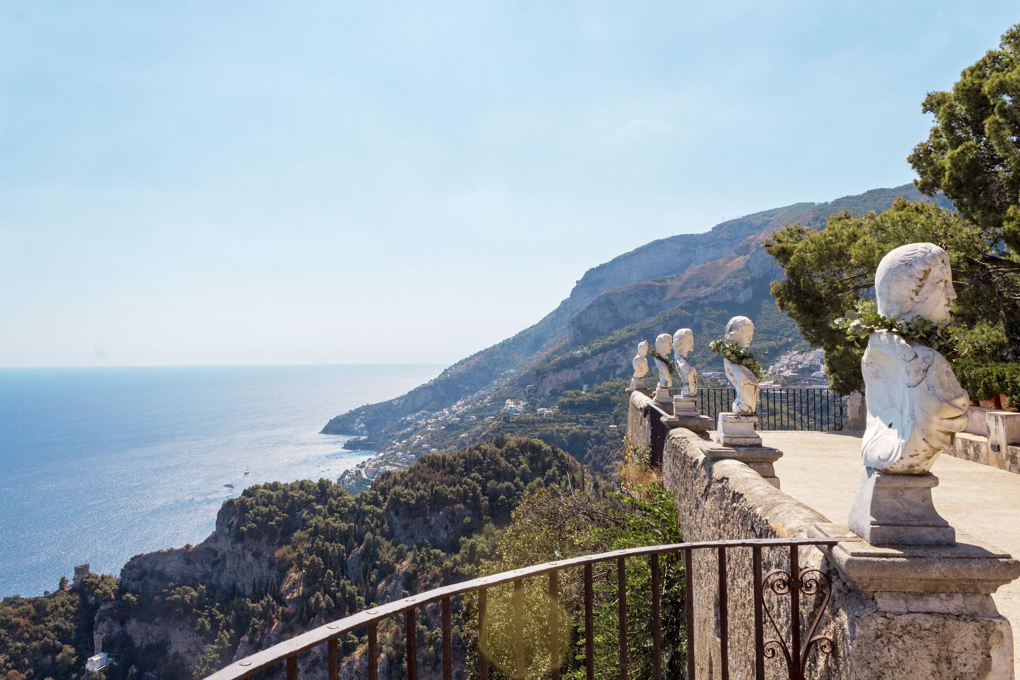 ravello villa cimbrone amalfi coast itinerary