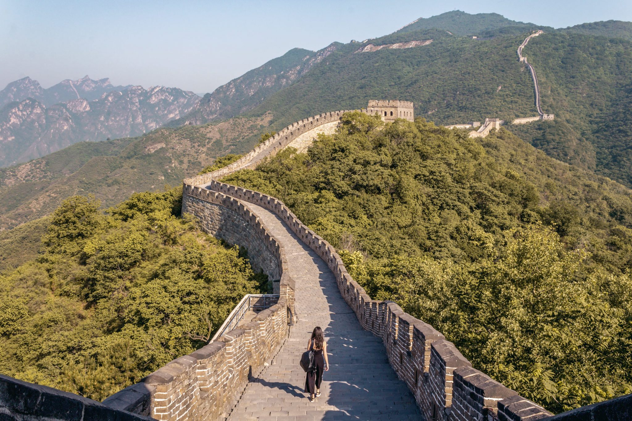 Visit Great Wall of China without crowds Mutianyu girl instagram