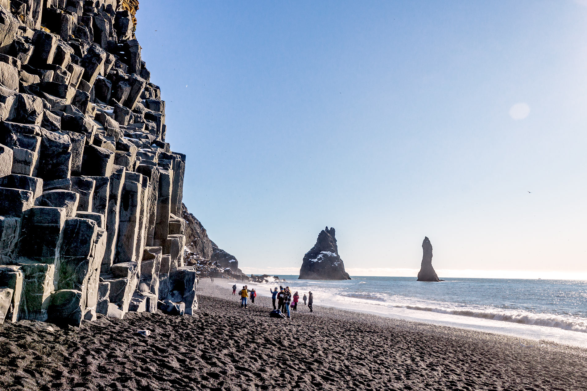 iceland 7 days reynisfjara black beach basalt