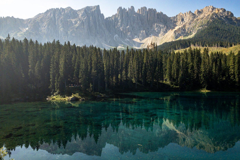 Lake Carezza Karersee Dolomites Italy